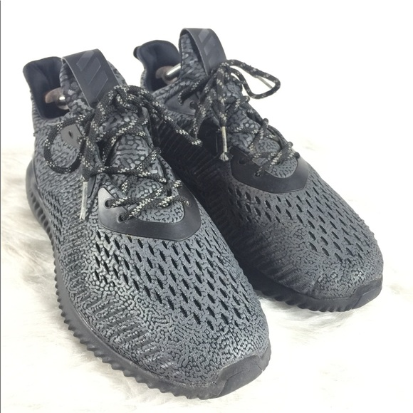 buy online ac75d f6eef adidas Other - Mens Adidas AlphaBounce AMS Black Running Shoes